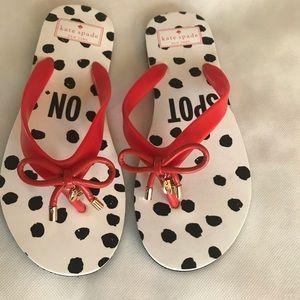 Kate Spade Bow Flip Flops size 7